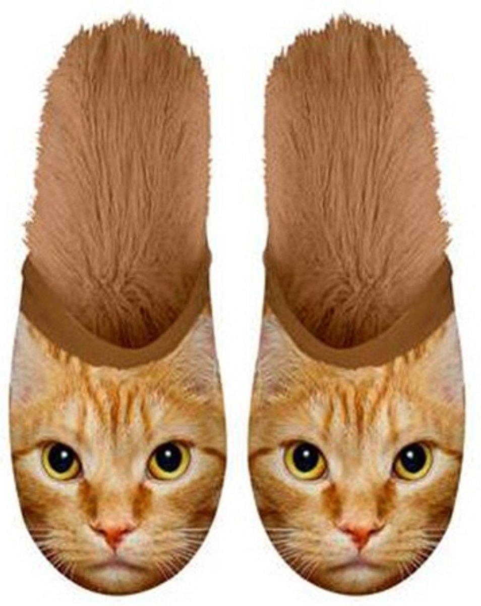 Pantoffels Kat rood 35-38