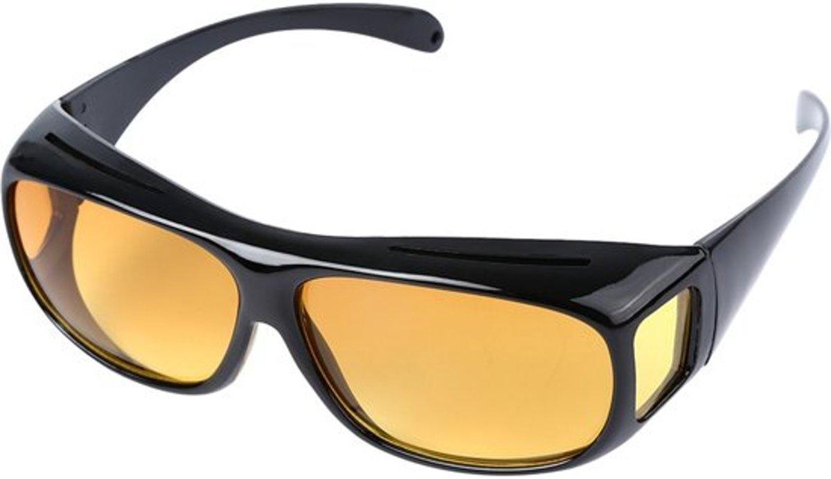 Overzet Nachtbril - Autobril - Mistbril - Nachtzicht auto bril - Dames - Heren (BESTSELLER)