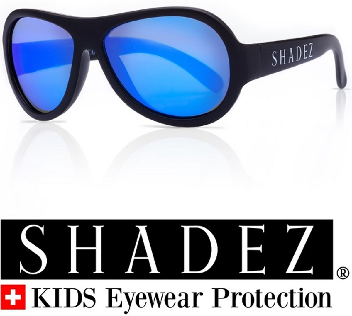 Zonnebril kind & tiener - Kinder zonnebril - Shadez - Zwart 7-15 jr