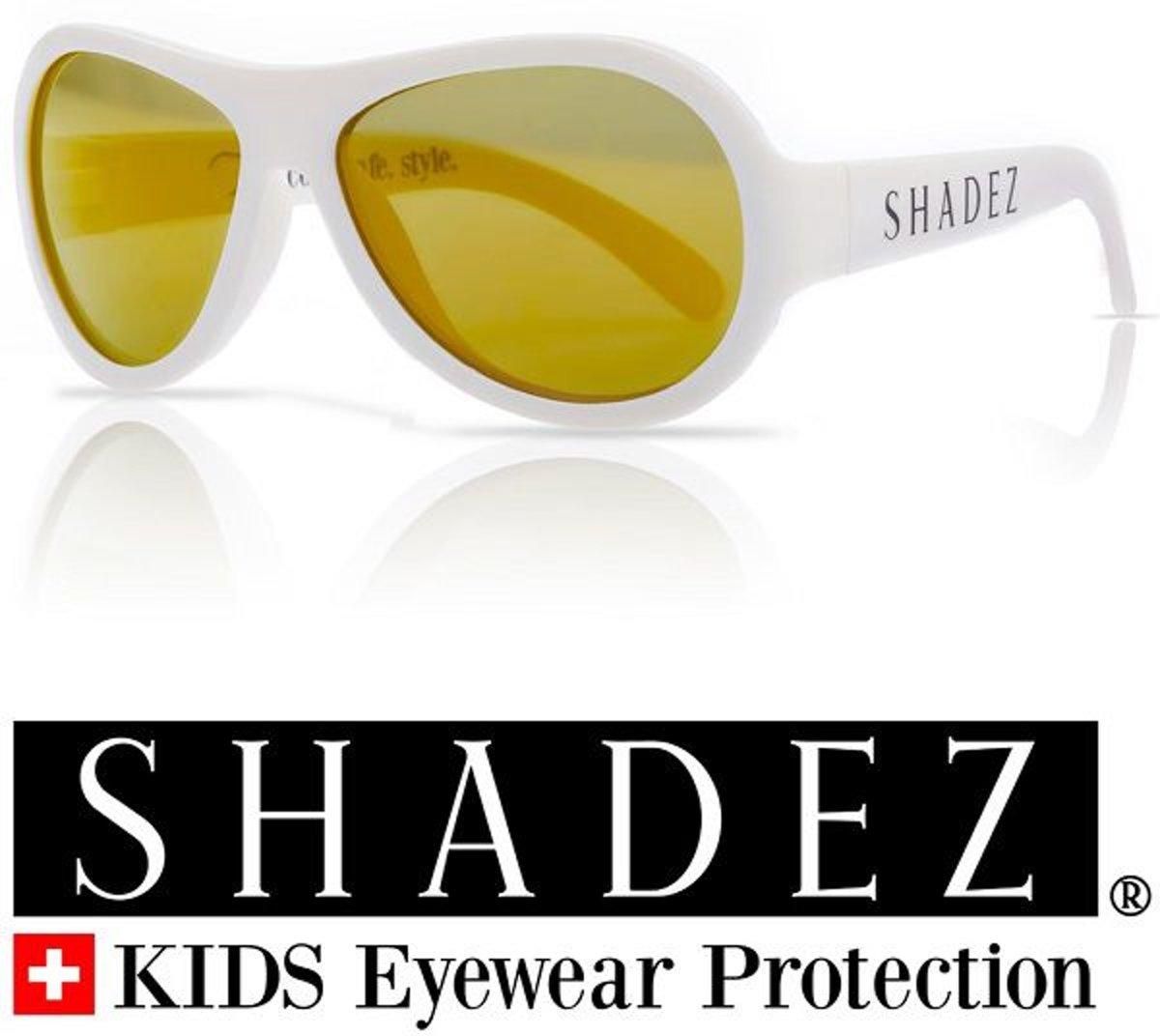 Zonnebril kind - Kinder zonnebril - Shadez - Wit 3-7 jr