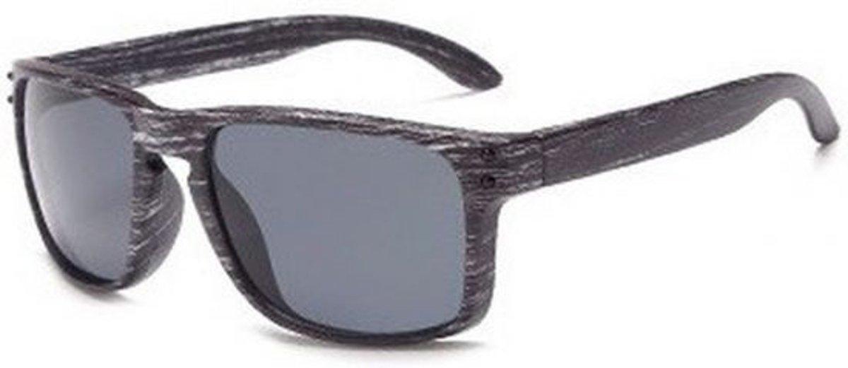 Hidzo Houten Zonnebril Wayfarer Grijs - UV 400 - In brillenkoker