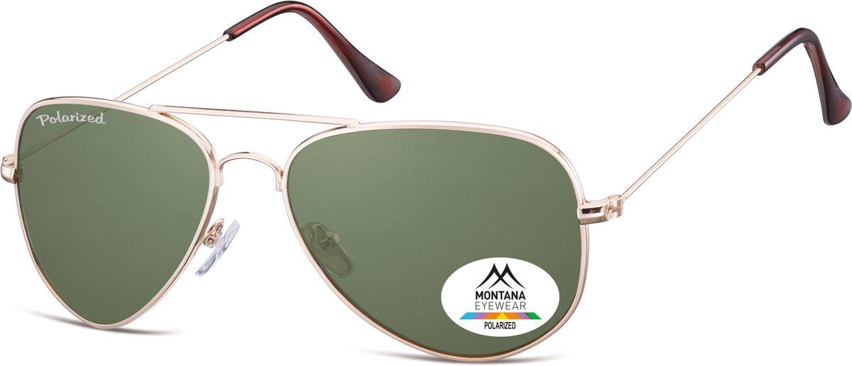 Montana MP94E- zonnebril- goud- aviator- polarizerend