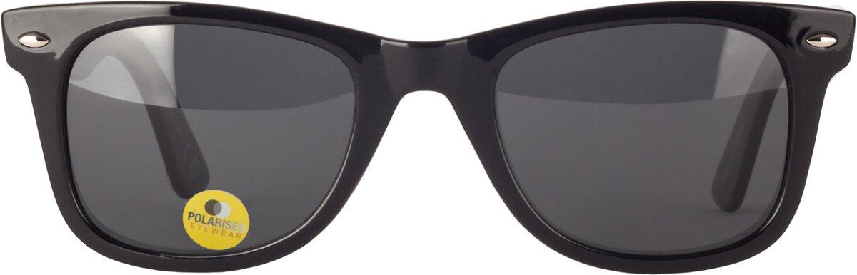 Icon Eyewear Zonnebril ISTANBUL - Zwart montuur - Gepolariseerde Grijze glazen