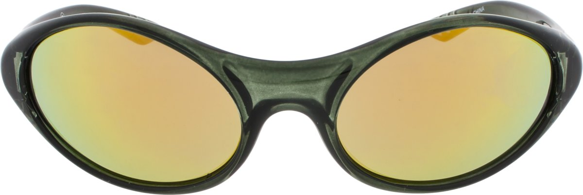 Sunheroes zonnebril LARSEN - Transparant groen montuur - Kleurrijke spiegelende glazen