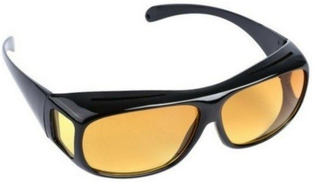 Nachtzicht bril zwart - volwassenen - nachtblind bril / nachtbril