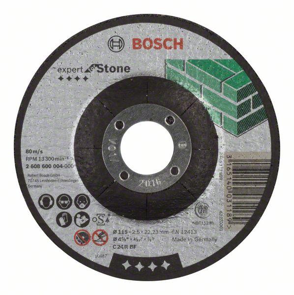 Doorslijpschijf gebogen Expert for Stone C 24 R BF, 115 mm, 22,23 mm, 2,5 mm 1st
