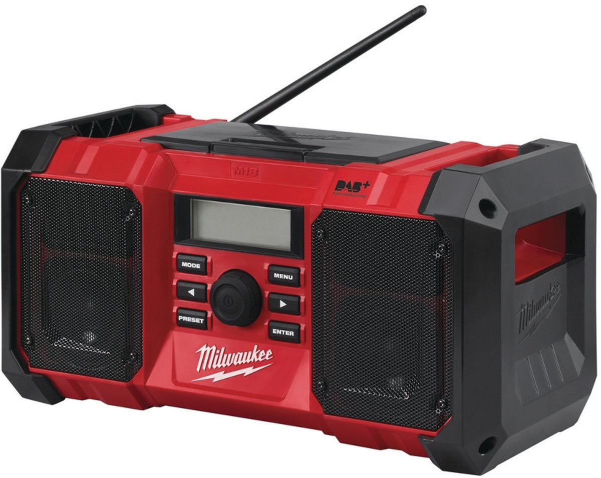 Milwaukee M18 JSR-0 Bouwradio body 18V Li-Ion DAB+