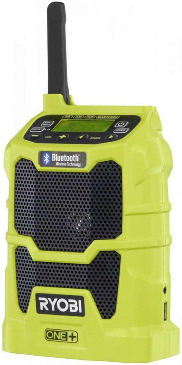 Ryobi R18R-0 One+ FM Bouwradio Bluetooth, USB, AUX Lichtgroen
