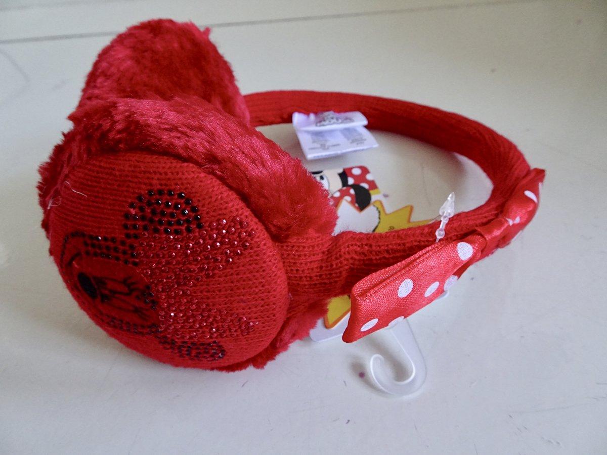 Rode oorwarmers van Minnie Mouse