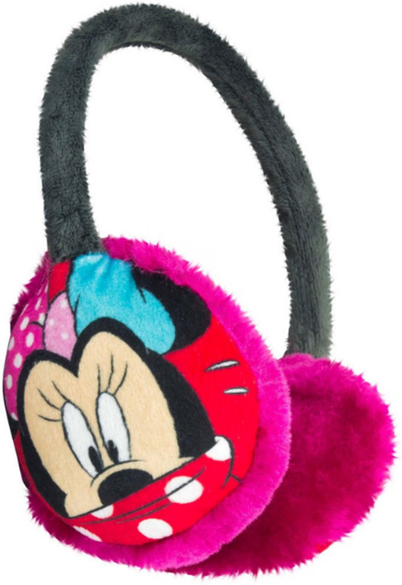 Minnie Mouse roze verstelbare oorwarmers - one size