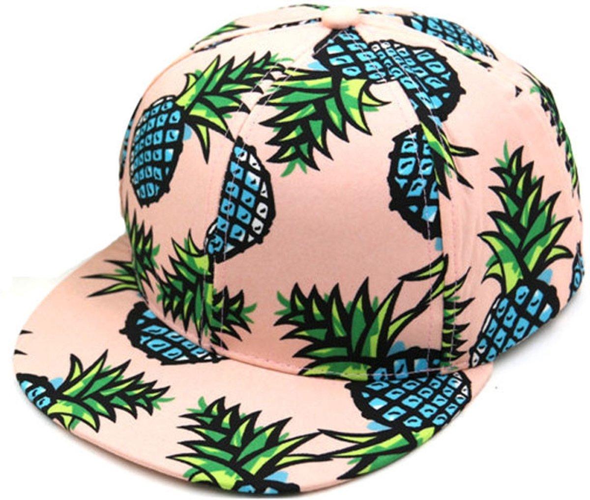 Roze Ananas Snapback - Pet - Cap
