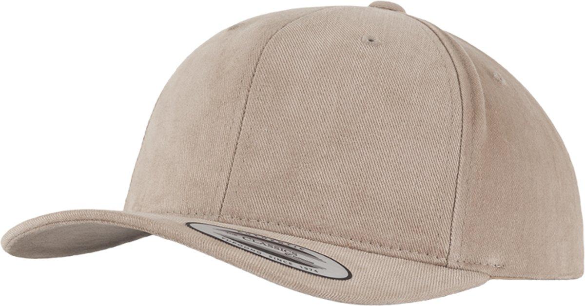 Flexfit/Yupoong - Brushed Cotton Twill Mid-Profile - Kleur Khaki - 6363V