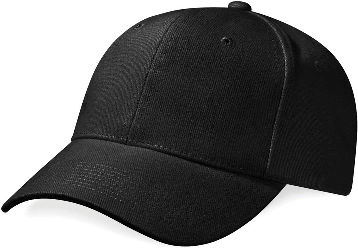 Beechfield Pro-Style Heavy Brushed Cotton Cap Zwart