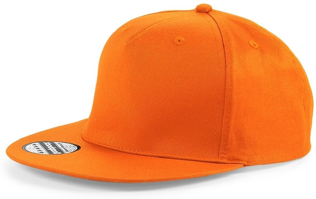 Senvi Snapback Rapper Cap Oranje - One size fits all