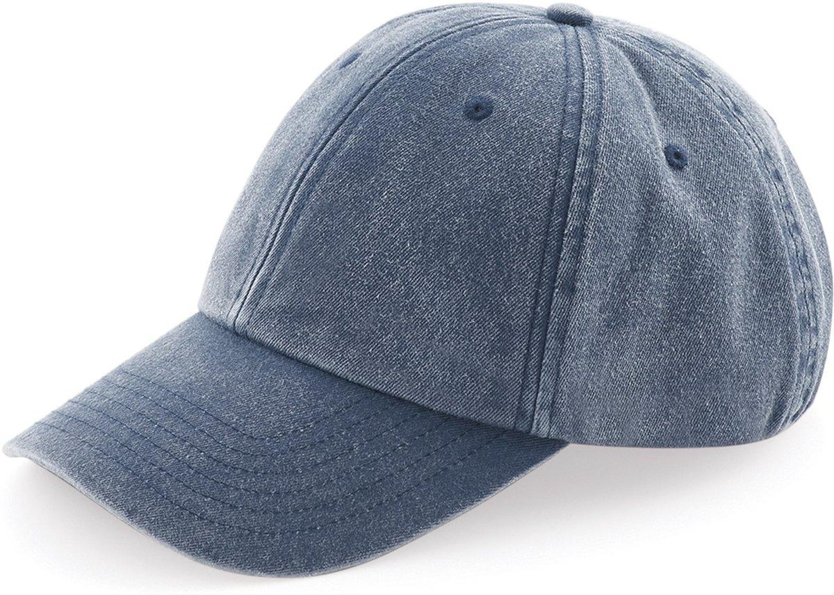 Senvi Low Profile Vintage Cap Blauw (One size fits all)