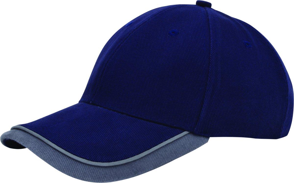 Benza Luxe Canvas Sandwich Cap - Donkerblauw en Grijs