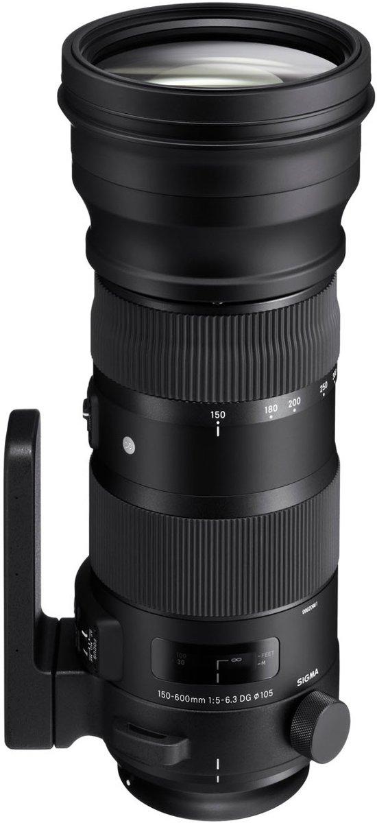 Sigma 150-600mm F5-6.3 S DG OS HSM SLR Telelens Zwart