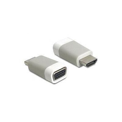 Delock HDMI / VGA Adapter [1x HDMI-stekker=> 1x VGA bus] Wit