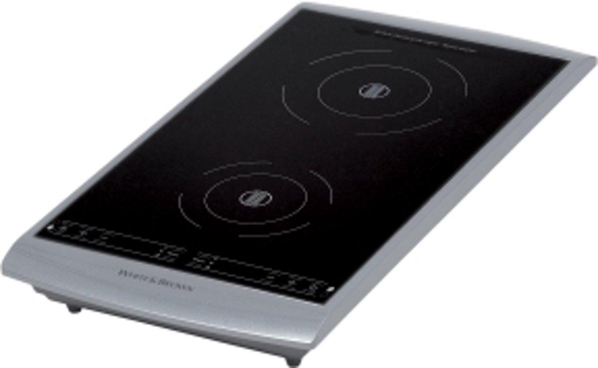 White And Brown PC493 Tafelblad Zone van inductiekookplaat Zwart, Zilver