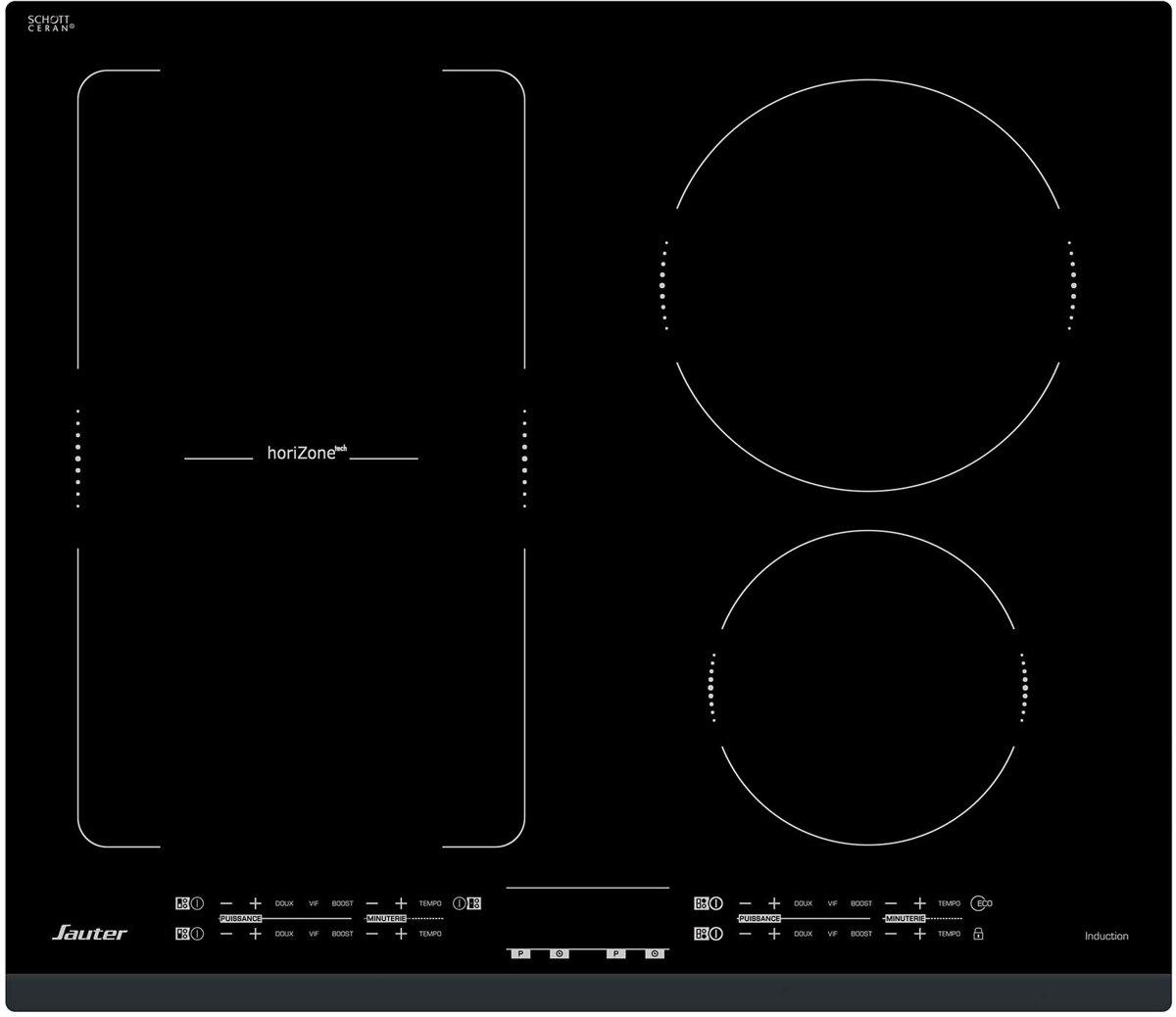Sauter SPI4664B kookplaat Zwart Ingebouwd Zone van inductiekookplaat