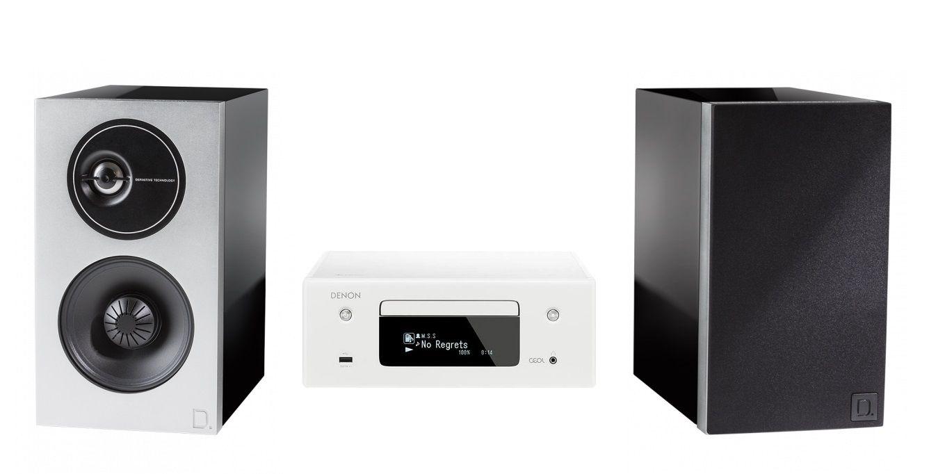 DoubleDeal: Denon RCD-N10 + Definitive Technology Demand D7 - Zwart/Wit