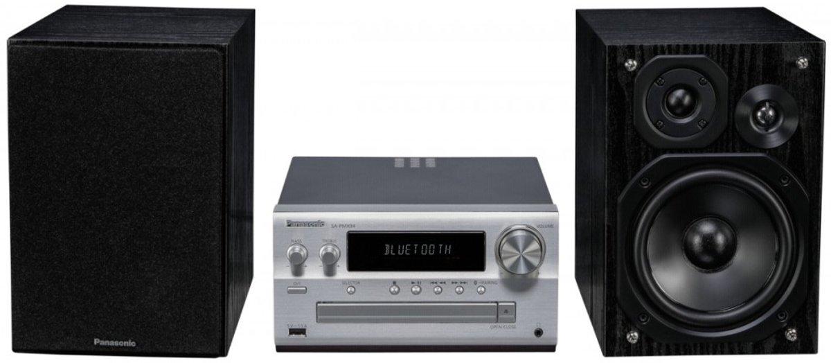 Panasonic SC-PMX94 Stereoset AUX, Bluetooth, DAB+, CD, FM High-resolution audio 2 x 60 W Zilver