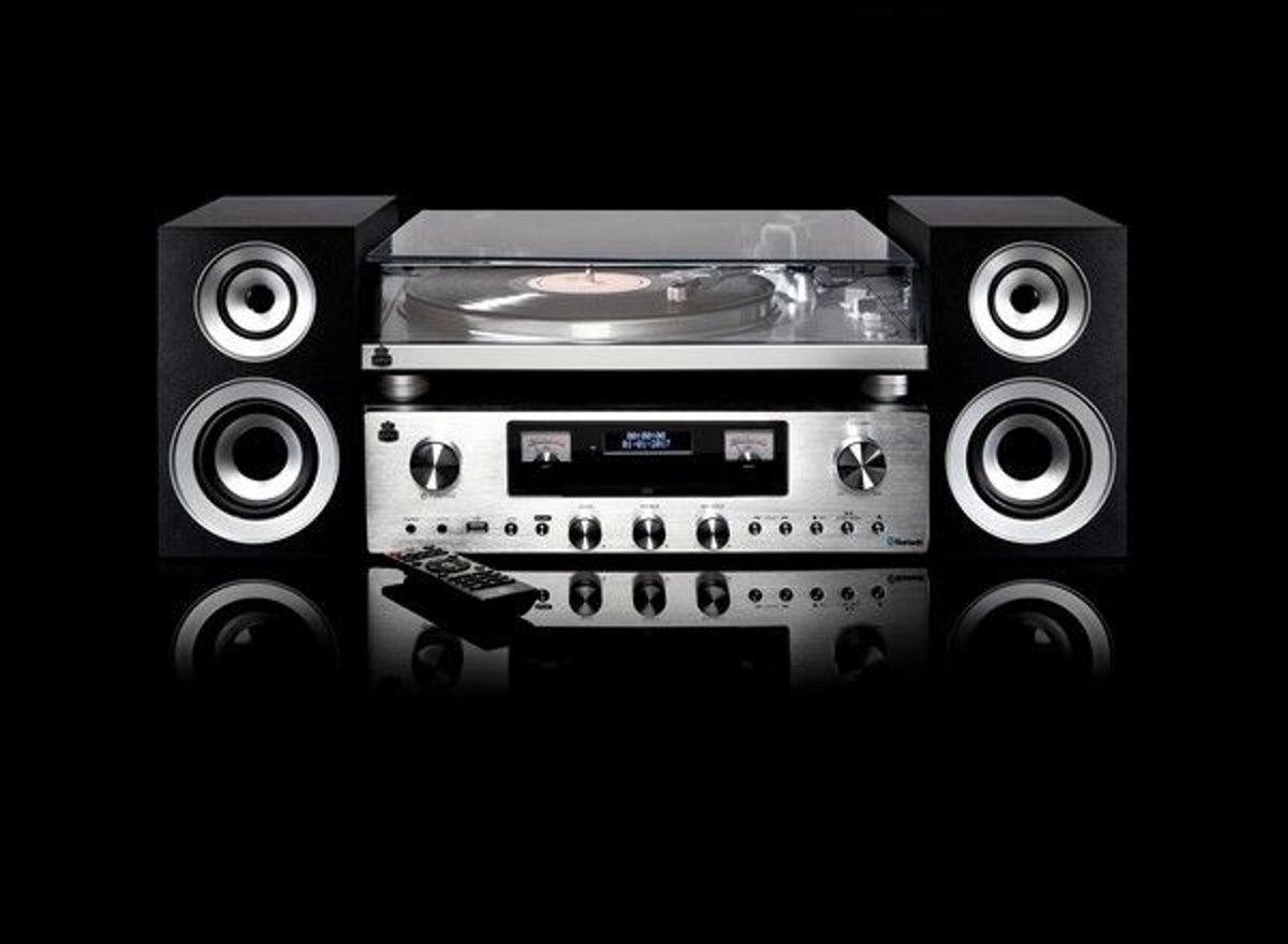 GPO PR100/200BUNDLE | Premium Line HiFi systeem met DAB+ radio, CD, USB en Bluetooth | Inc
