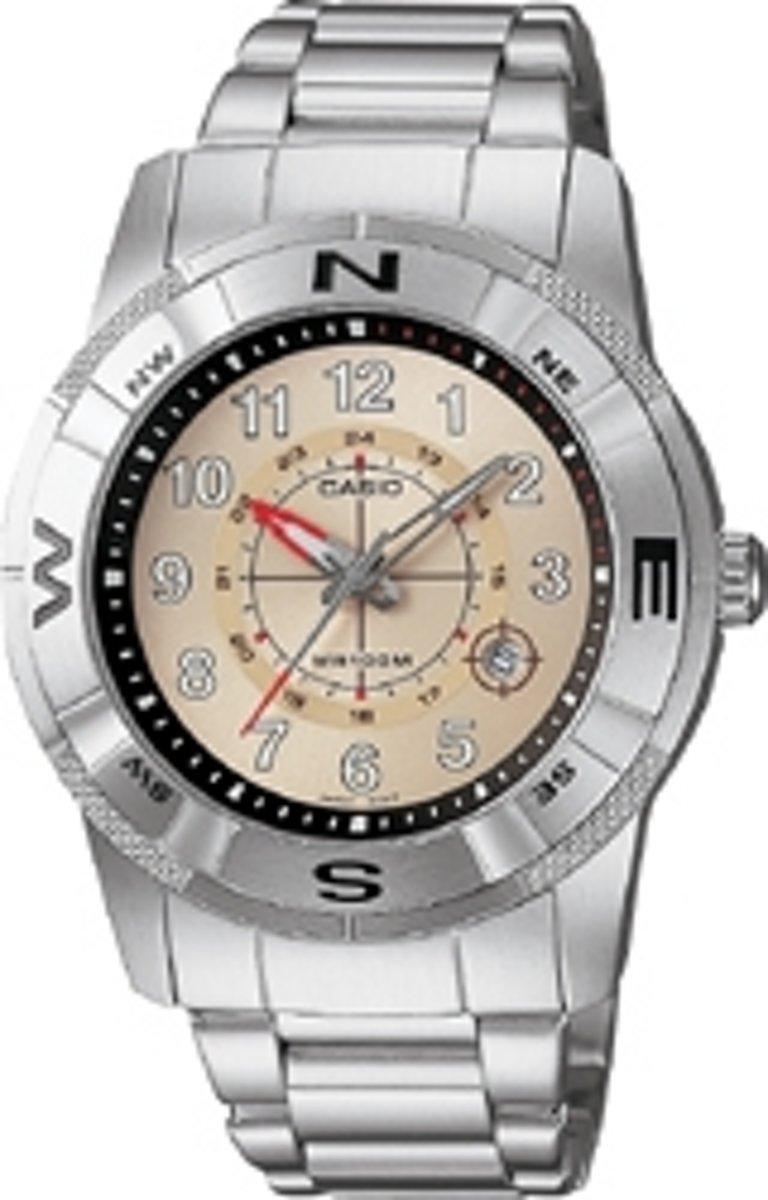 Mooi Casio heren horloge met datum AMW-101D-7BV