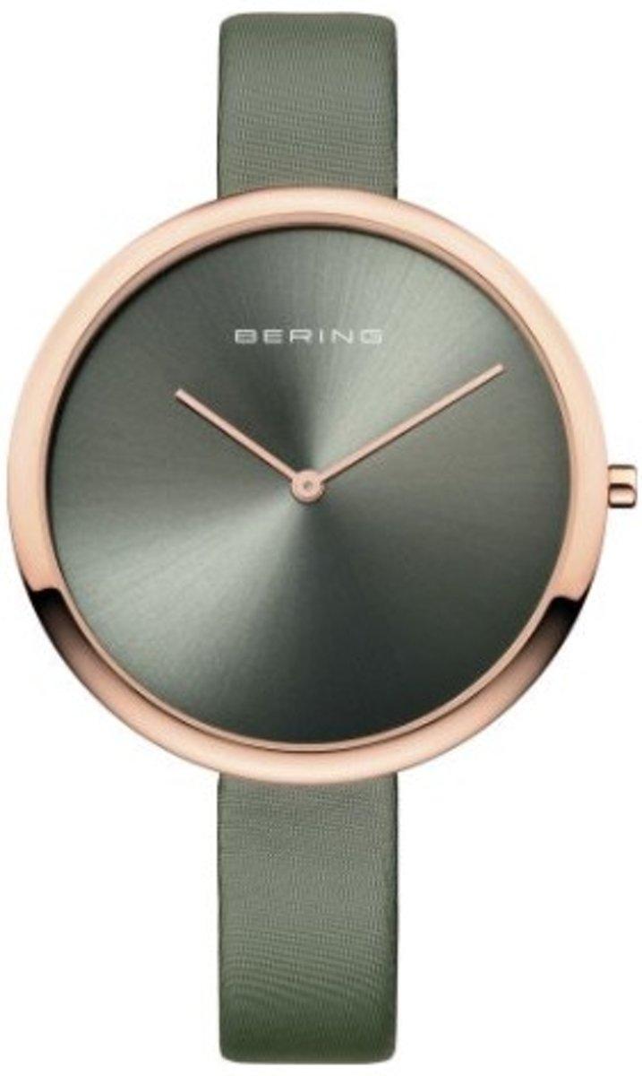 BERING 12240-609 - Horloge - Satijn/leer - Zilverkleurig - ? 40 mm