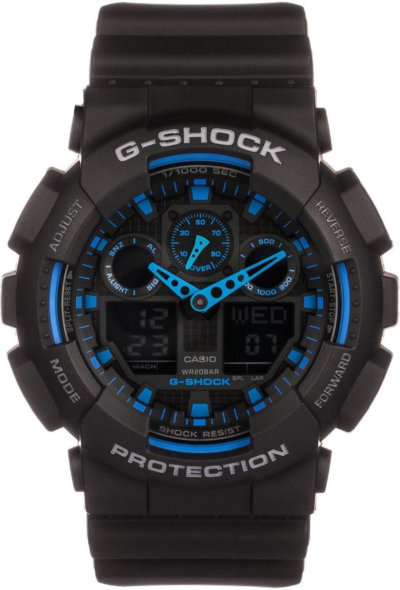 Casio G-Shock GA-100-1A2ER - Horloge - Kunststof - Zwart - ? 50 mm
