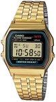Casio Quartz Horloge A159WGEA-1EF (l x b x h) 36.8 x 32.2 x 8.2 mm Goud Materiaal (behuizing): Hars Materiaal (armband): RVS