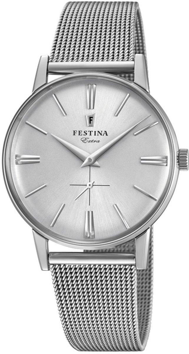 Festina F20252-1 Vintage - Horloge - Staal - Zilverkleurig - ? 36 mm