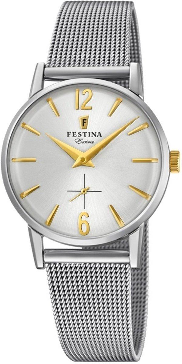Festina F20258-2 Vintage - Horloge - Staal - Zilverkleurig - ? 29 mm