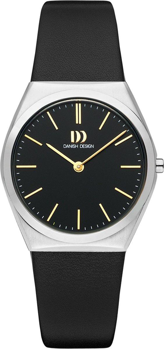Danish Design IV33Q1236 horloge dames - zwart - edelstaal