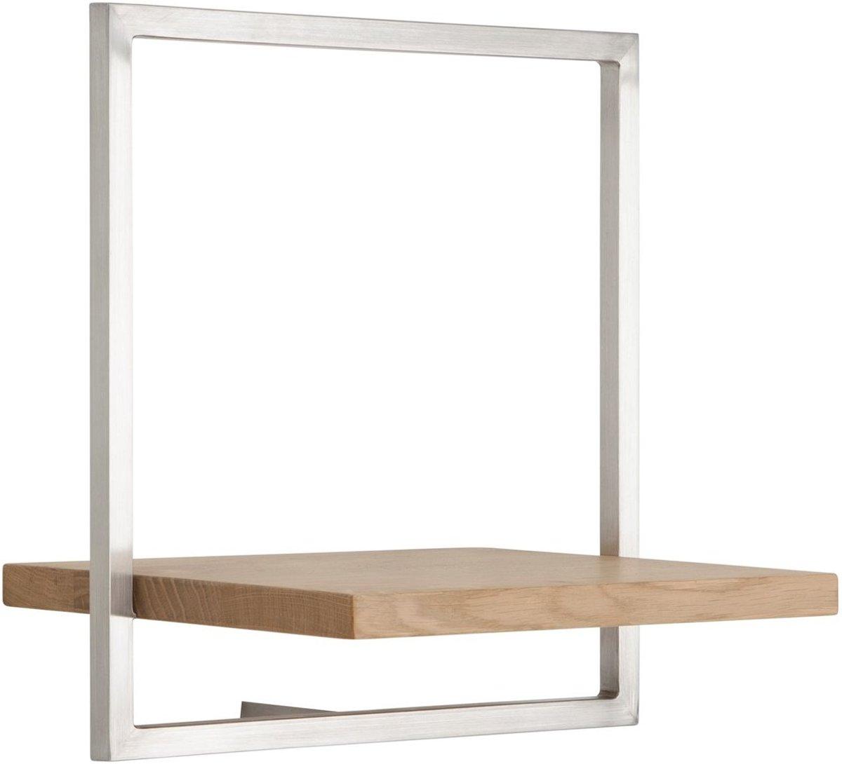 Shelfmate - d-Bodhi - Type B (ESF) - Wandbox - Eikenhout - Stainless Steel Frame