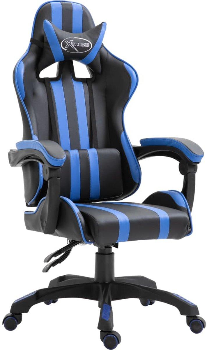 Gamingstoel PU blauw