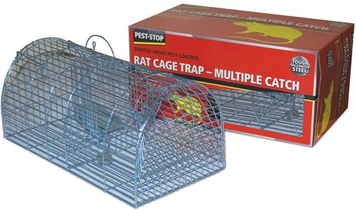 PEST STOP Multicatch Rat Cage Niet dodelijke val Lokstof 1 stuks