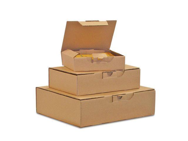 Pressel Postpakketdoos. 240 x 170 x 50mm. bruin (pak 25 stuks)