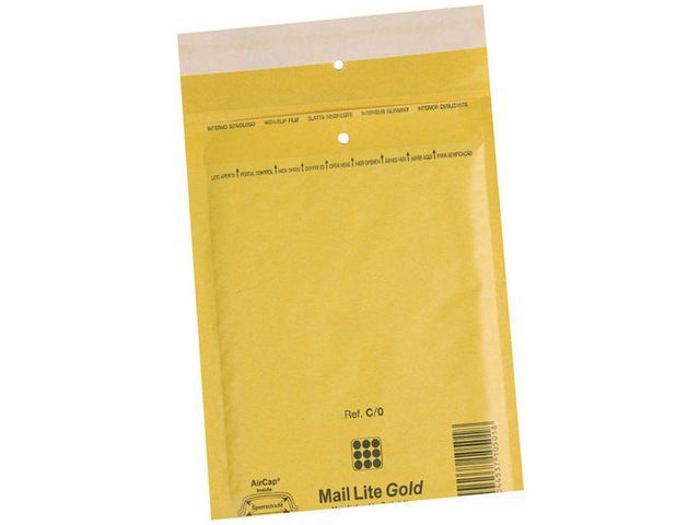 Mail Lite? Luchtkussenenveloppen Goud nr 16: 220 x 330 mm (doos 50 stuks)