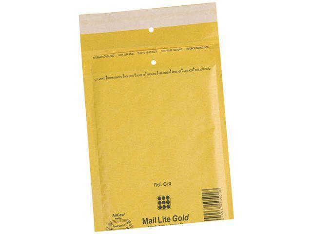 Mail Lite? Luchtkussenenveloppen Goud nr 20: 350 x 470 mm (doos 50 stuks)