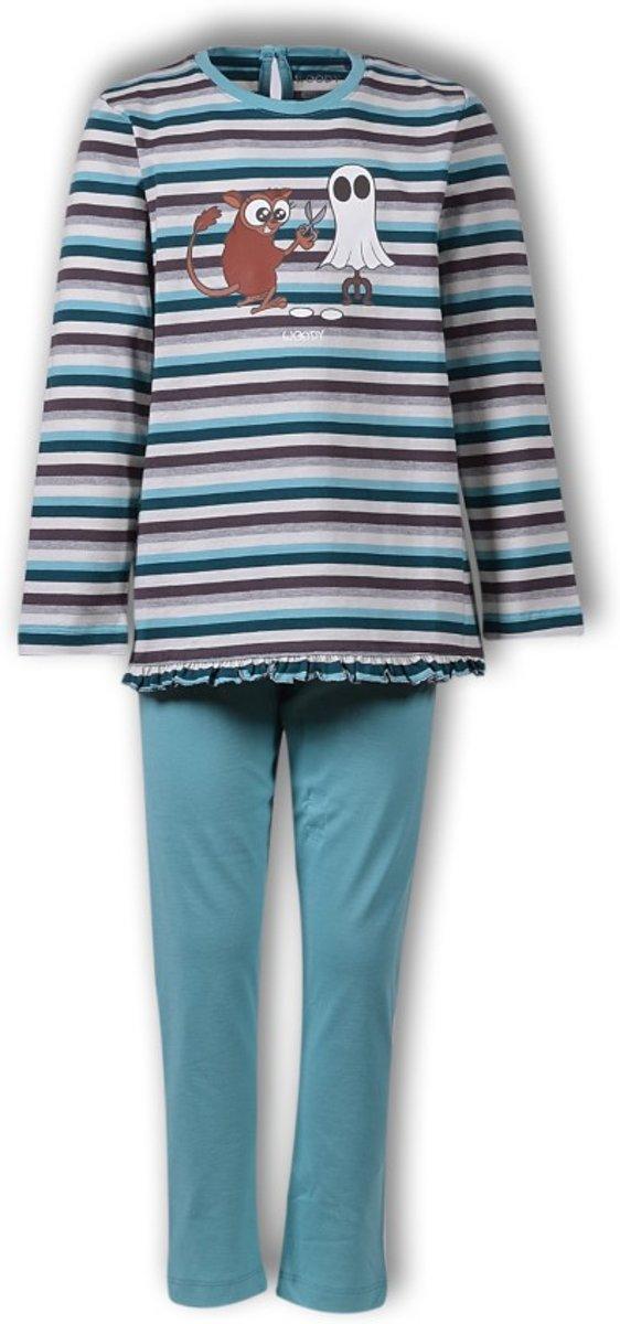 Woody pyjama meisjes - spookdier - blauw - 192-1-plg-s/971 -maat 128