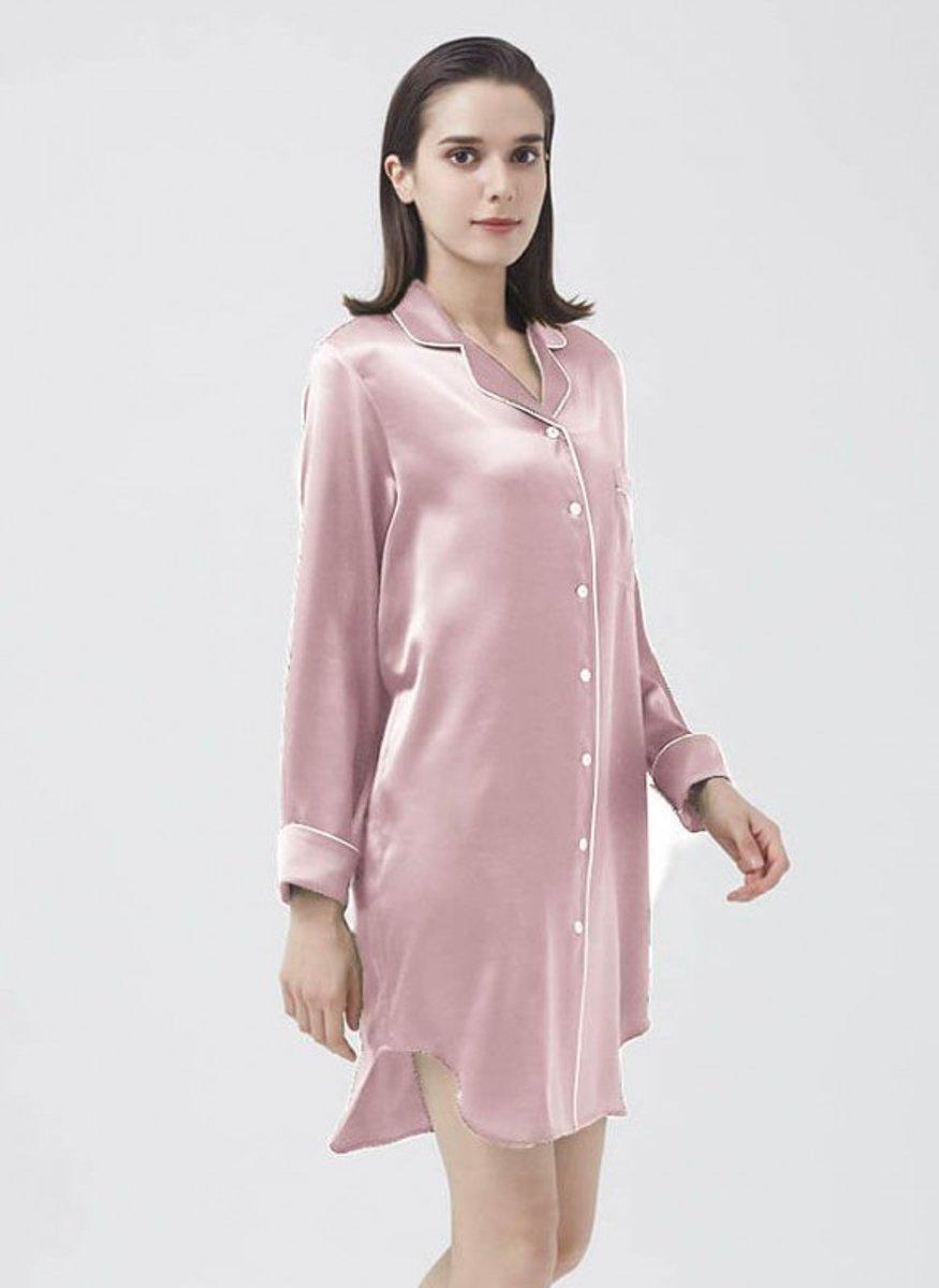 Dames Zijden nachthemd/ zijden pyjama 100% zijde