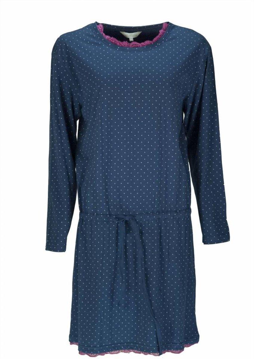 Tenderness Dames Nachthemd Blauw Maten: M