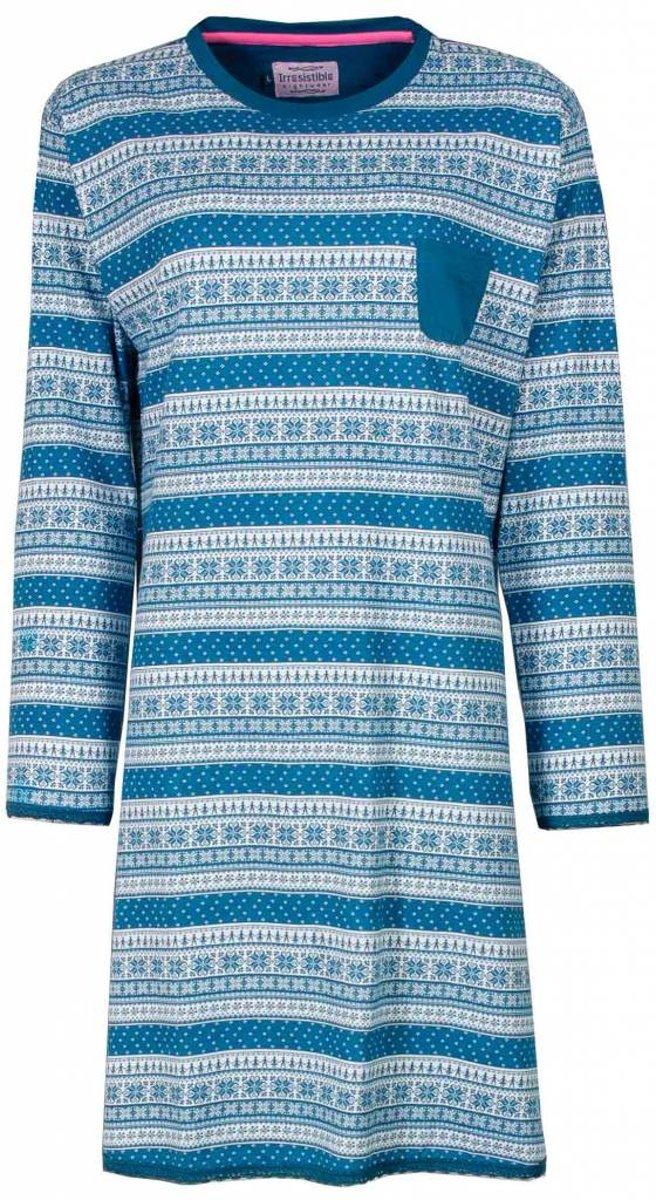 Irresistible Dames Nachthemd Blauw Maten: S
