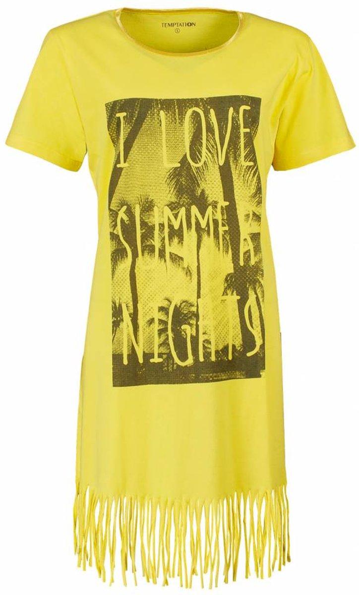Tenderness Dames Bigshirt Geel Maten: 3XL