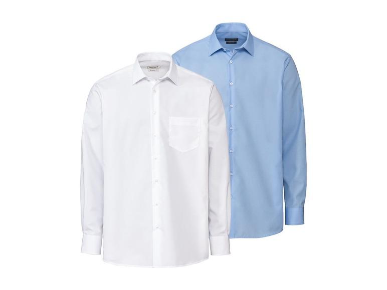 Nobel League 2 heren overhemden slim fit 39, Blauw/wit