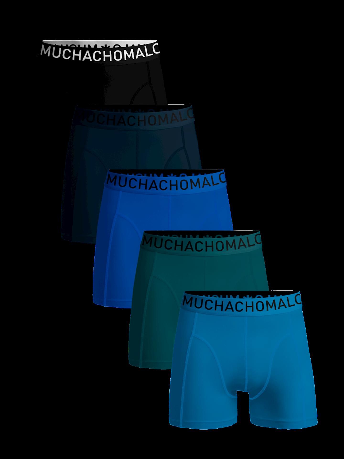 Muchachomalo Men 5-Pack Dark Cotton solid-XXL