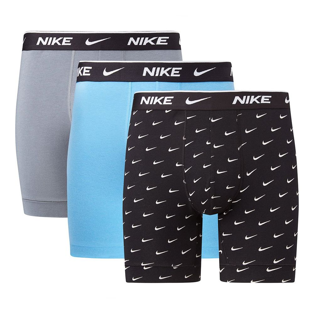 Nike 3-pack brief boxerhort blauw/grij/zwart