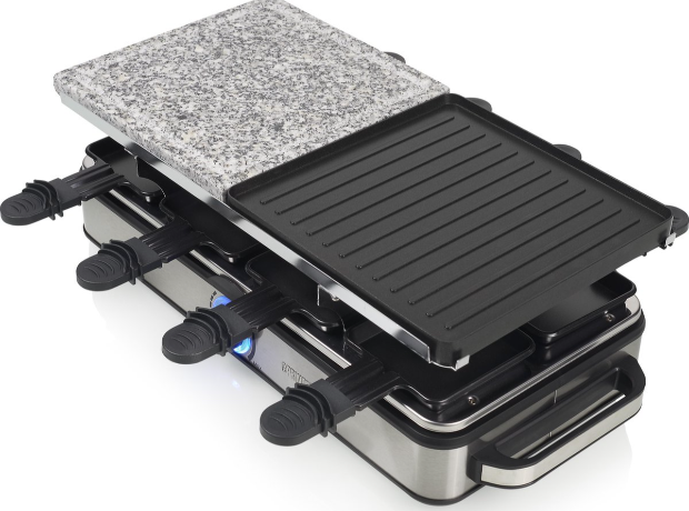 Princess 162635 Raclette 8 Stone and Grill Deluxe gourmetstel