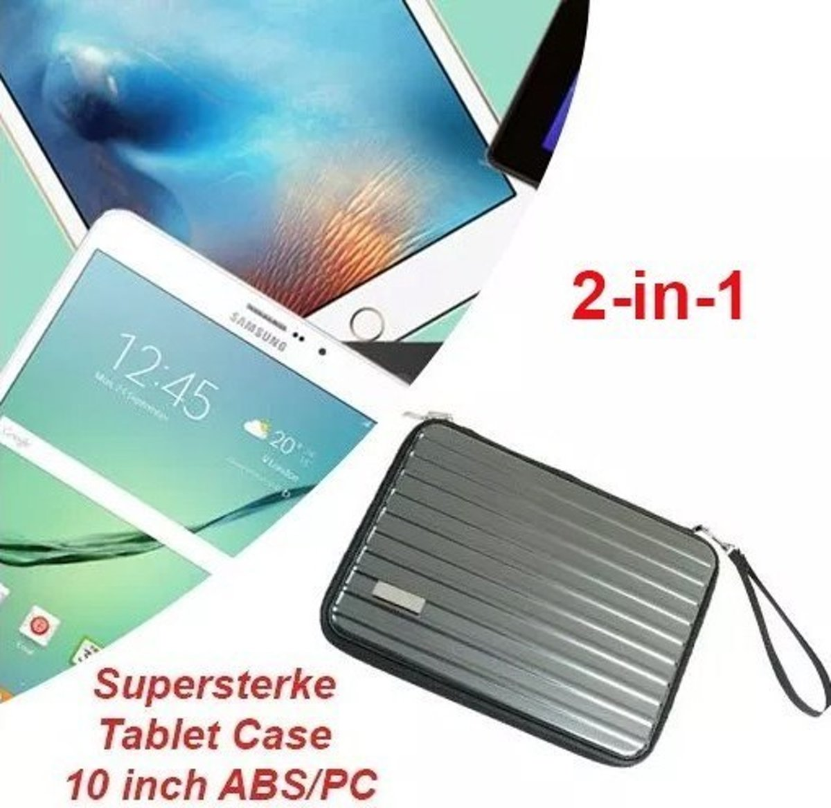 Supersterke Tablet Case 10 inch ABS/PC (Antraciet)